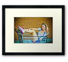 Tina-Overalls-3 Framed Print