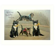Birthday Kittens Art Print