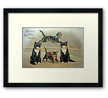Birthday Kittens Framed Print