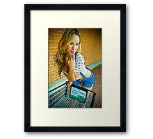 Tina-Overalls-2 Framed Print