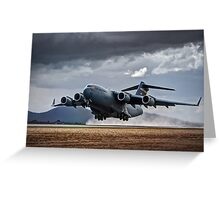 C 17 Globemaster Greeting Card