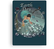 Keepsakes of the Ocean - Earth Day With Date - Bubble cut Canvas Print