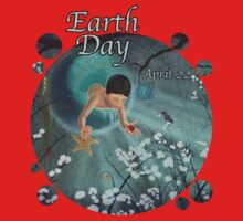 Keepsakes of the Ocean - Earth Day With Date - Bubble cut Kids Tee