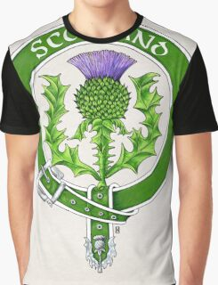Belted Thistle Badge of Scotland Graphic T-Shirt