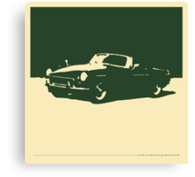 MGB, 1971 - British Racing Green on Cream Canvas Print