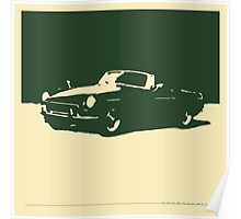 MGB, 1971 - British Racing Green on Cream Poster