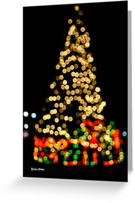 Bokeh Christmas Tree by Ronda Basteyns