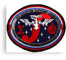 ISS Houston Support Group Logo Canvas Print