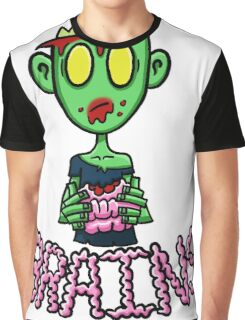 Zombie Eating Brains Graphic T-Shirt