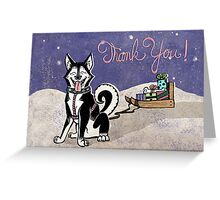 Husky Thank You Card Greeting Card