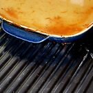 locked the doors, turned off the gas, photographed the casserole dish, then off to Europe. by geof