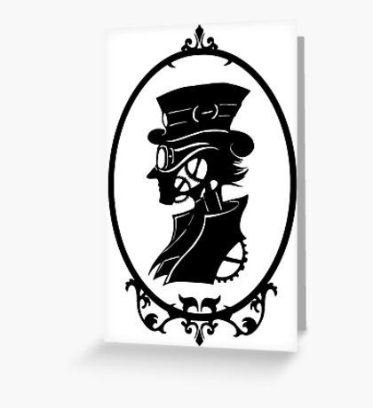 Clockwork masquerade (Male portrait) Greeting Card