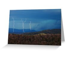 Stormy Christmas day  Greeting Card