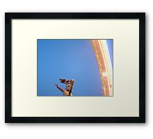 the past, redecorated Framed Print