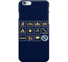 Nature   Nature Design with Outdoor Activity Icons iPhone Case/Skin