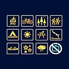Nature | Nature Design with Outdoor Activity Icons by BootsBoots