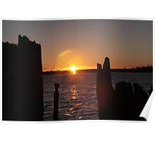 Sunset at Strahan Poster
