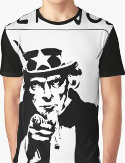 Uncle Sam Get A Job Graphic T-Shirt