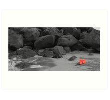 Orange thongs Art Print