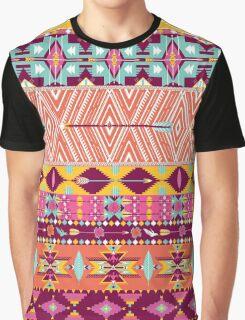 Aztec geometric seamless  colorful pattern Graphic T-Shirt