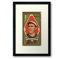 Benjamin K Edwards Collection Matthew McIntyre Chicago White Sox baseball card portrait Framed Print