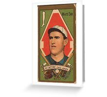 Benjamin K Edwards Collection Matthew McIntyre Chicago White Sox baseball card portrait Greeting Card