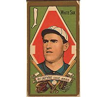 Benjamin K Edwards Collection Matthew McIntyre Chicago White Sox baseball card portrait Photographic Print