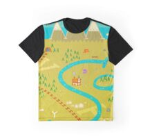 Font Mountains Graphic T-Shirt