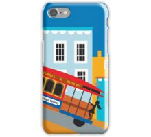 San Francisco, California - Skyline Illustration by Loose Petals iPhone Case/Skin