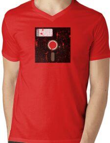 Retro Floppy Mens V-Neck T-Shirt