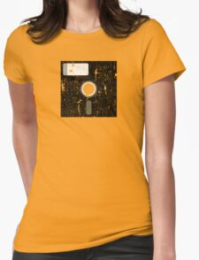 Retro Floppy Womens Fitted T-Shirt