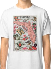 Vintage Map of Florida (1917) Classic T-Shirt