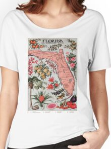 Vintage Map of Florida (1917) Women's Relaxed Fit T-Shirt