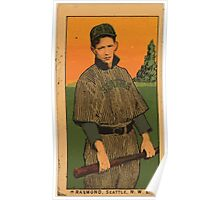 Benjamin K Edwards Collection Raymond Seattle Team baseball card portrait Poster