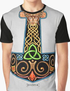 Thor's Hammer Mjollnir in Color Graphic T-Shirt