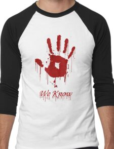 "AWESOME Dark Brotherhood ""We Know"" Men's Baseball ¾ T-Shirt"