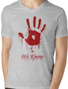 "AWESOME Dark Brotherhood ""We Know"" Mens V-Neck T-Shirt"