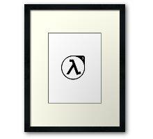 Half Life 3 - black Framed Print