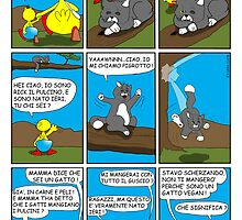 "Rick the chick  ""THE MAGIC SHELL (Pigrotto il gatto vegan) parte 8"" by CLAUDIO COSTA"