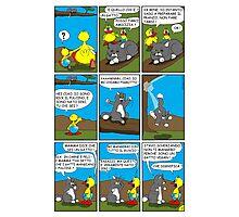 """Rick the chick  """"THE MAGIC SHELL (Pigrotto il gatto vegan) parte 8"""" Photographic Print"""