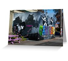 Images of Brunswick #4 Street Art advertising Body Canvas Showcase Greeting Card