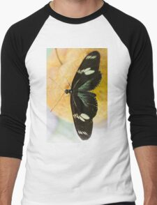 butterffly on fruit Men's Baseball ¾ T-Shirt