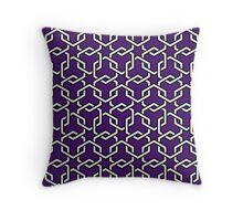 Purple Interlocked Hexagon Chains Throw Pillow