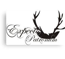 Expecto Patronum Deer Horn Canvas Print