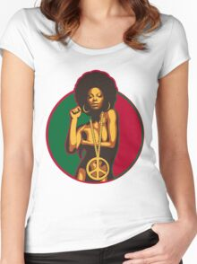 Power to the People Women's Fitted Scoop T-Shirt