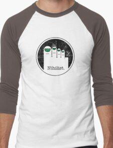 Minimalist Nihilist Men's Baseball ¾ T-Shirt