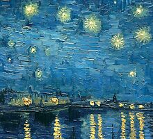 The Brushstrokes of Vincent Van Gogh - Starry Night on the Rhone by lifetree