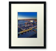 Boats on the Hampton River - Hampton, Virginia Framed Print
