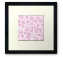 Pink Dandelion Background Framed Print