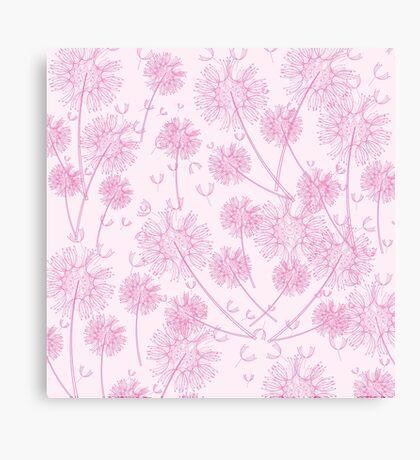 Pink Dandelion Background Canvas Print